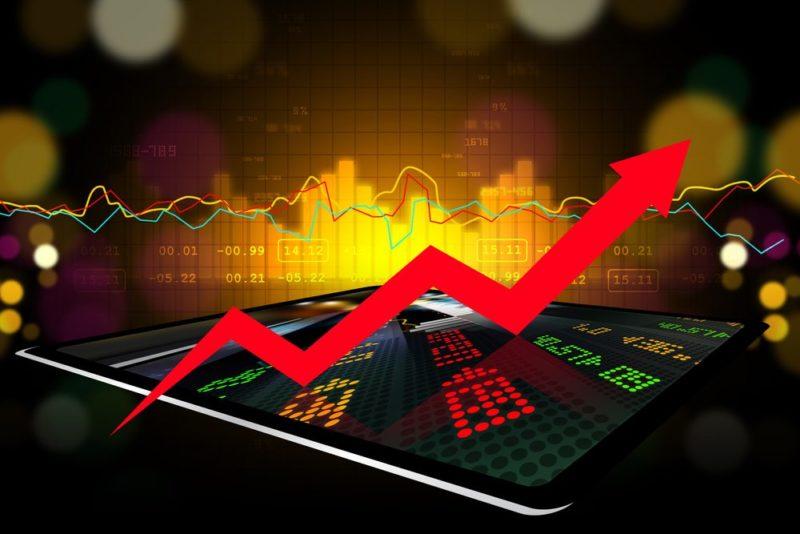illustration d'une bourse en hausse